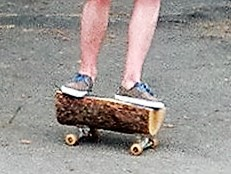 redneck skateboard